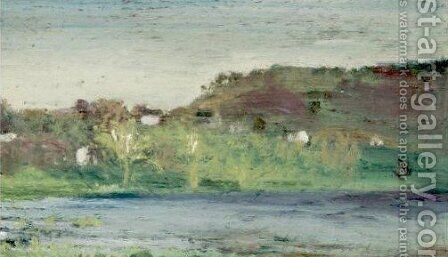 The Shore Of Rockland Lake And The Bend Of The Road Toward Rockland Lake 2 by Arthur Bowen Davies - Reproduction Oil Painting