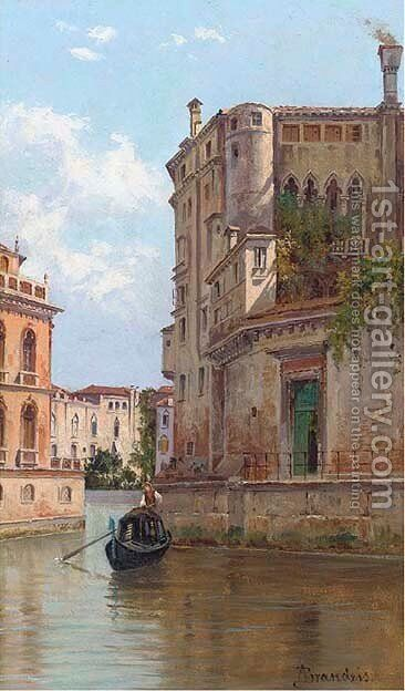 Canale del Tolentino, Venice by Antoinetta Brandeis - Reproduction Oil Painting