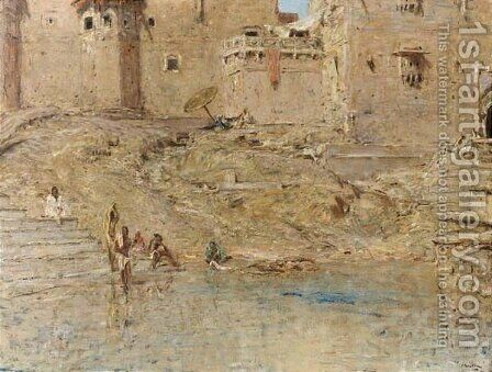 Benares by Marius Bauer - Reproduction Oil Painting