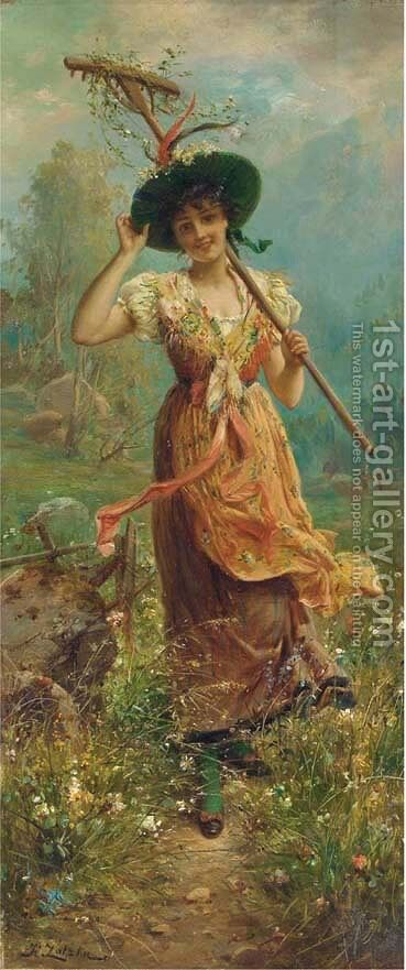 Fair flowers by Hans Zatzka - Reproduction Oil Painting