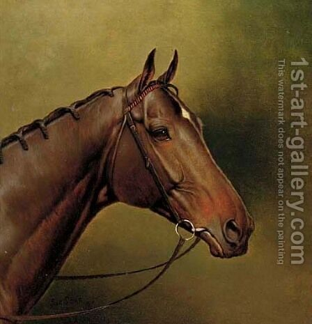The Derby winner Sunstar by Alfred Wheeler - Reproduction Oil Painting