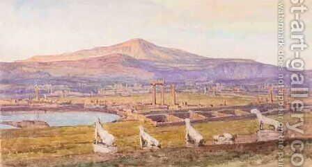Watercolour Of Greek View by Herbert Hughes Stanton - Reproduction Oil Painting