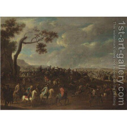 Battle Scene by (after) Rugendas, Georg Philipp I - Reproduction Oil Painting