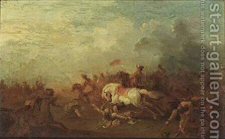 Cavalry Battle 2 by (after) Rugendas, Georg Philipp I - Reproduction Oil Painting