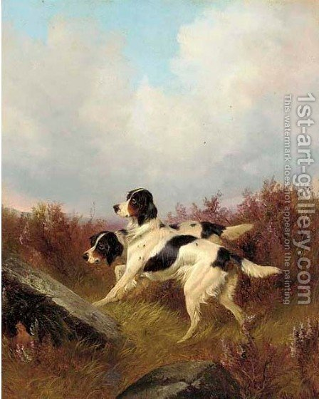 Setters between rocks 2 by Colin Graeme Roe - Reproduction Oil Painting