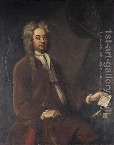 Portrait Andrew Fountaine by (after) Richardson. Jonathan - Reproduction Oil Painting
