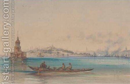 On the Bosphorus before the Hagia Sophia by Amadeo Preziosi - Reproduction Oil Painting