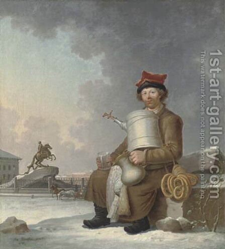 A St. Petersburg sbiten-seller by Benjamin Patersson - Reproduction Oil Painting