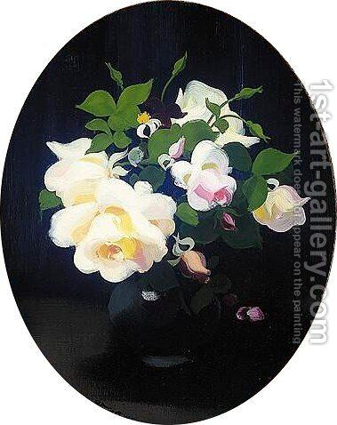 A Still Life Of Roses by James Stuart Park - Reproduction Oil Painting