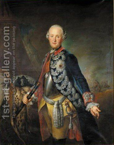 Portrait Of Ferdinand Herzog Zu Braunschweig-Wolfenbuttel (1721-1792) by (after) Pesne, Antoine - Reproduction Oil Painting