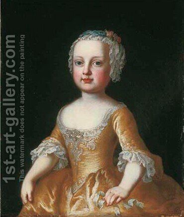 Portrait of the daughter of the Empress Maria Theresa of Austria by Martin II Mytens or Meytens - Reproduction Oil Painting