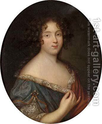 Portrait of a lady by (after) Mignard, Pierre II - Reproduction Oil Painting