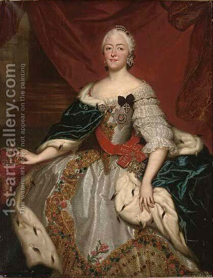 Portrait of Princess Maria Antonia Walpurgis Symphorosa von Bayern (1724-1780) by (after) Mengs, Anton Raphael - Reproduction Oil Painting