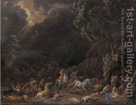 The Deluge by Jan Baptist van der Meiren - Reproduction Oil Painting