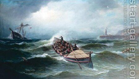 The Rescue by J. Mayall - Reproduction Oil Painting