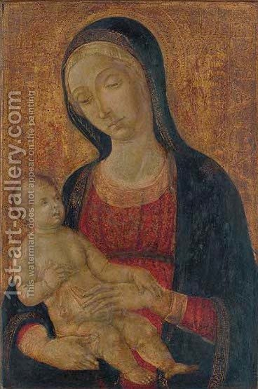 The Madonna and Child by di Giovanni di Bartolo Matteo - Reproduction Oil Painting