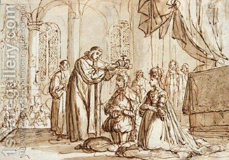 The Crowning Of William And Mary In Westminster Abbey by Jan Luyken - Reproduction Oil Painting