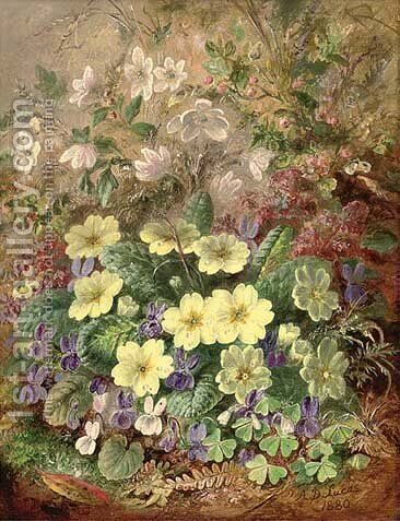 Primroses by Albert Durer Lucas - Reproduction Oil Painting