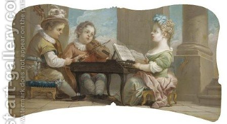 An Allegory Of Music 2 by (after) Loo, Carle van - Reproduction Oil Painting
