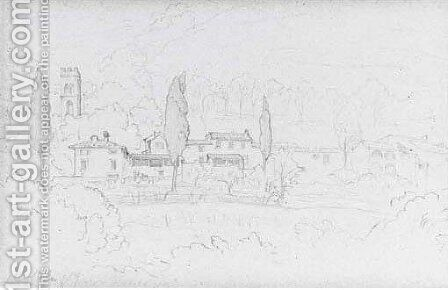 Views of Alla Villa by (attr. to) Leighton, Frederic - Reproduction Oil Painting