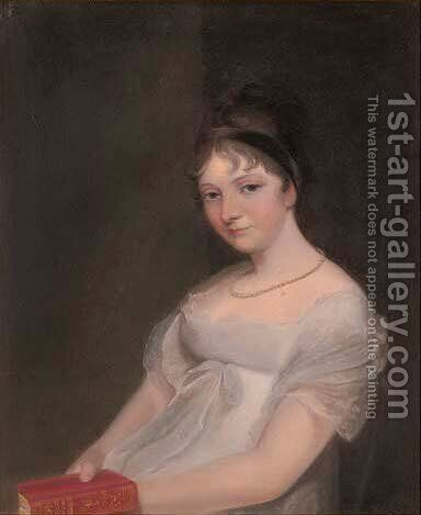 Portrait of a lady, traditionally identified as Anne Goddard, Lady Lethbridge (d.1857) by (after) Lawrence, Sir Thomas - Reproduction Oil Painting