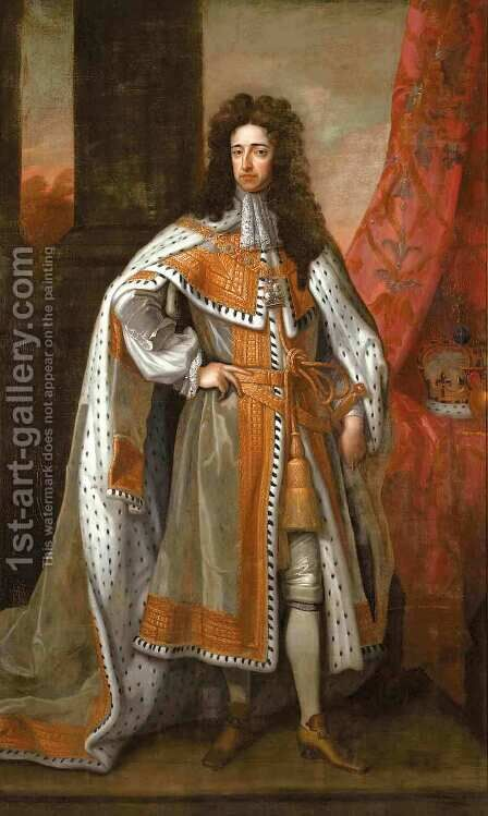 Portrait Of William III (1650-1702) King Of England, Scotland And Ireland And Prince Of Orange by (after) Kneller, Sir Godfrey - Reproduction Oil Painting
