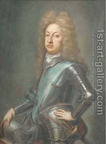 Portrait of the first Duke of Schomberg, three-quarter-length in armour by (after) Kneller, Sir Godfrey - Reproduction Oil Painting