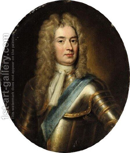 Portrait Of John Churchill, 1st Duke Of Marlborough (1650-1722) 2 by (after) Kneller, Sir Godfrey - Reproduction Oil Painting