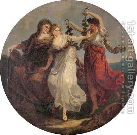 The Crowning Of A Maiden by (after) Kauffmann, Angelica - Reproduction Oil Painting