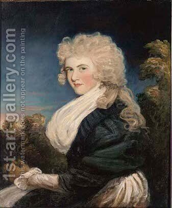 Portrait of a lady, traditionally identified as Miss Judith Beresford (1768-1840) by (after) Hoppner, John - Reproduction Oil Painting