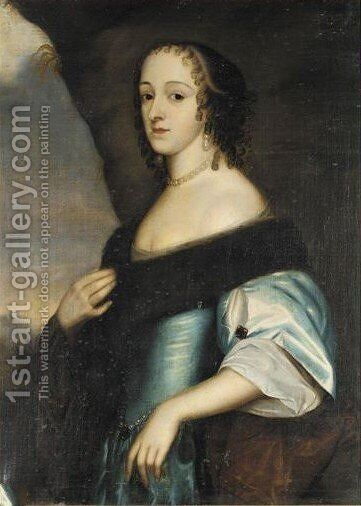 Portrait Of Amalie Of Hesse, Princess Of Tarent by (after) Honthorst, Gerrit van - Reproduction Oil Painting