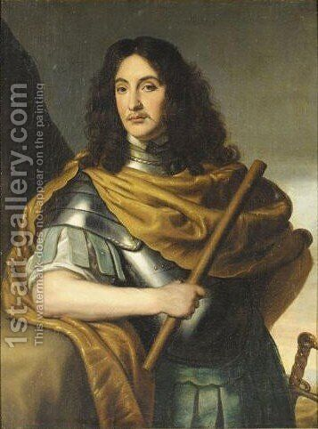 Portrait Von Prinz Moritz Von Der Pfalz by (after) Honthorst, Gerrit van - Reproduction Oil Painting