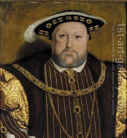 Portrait Von Konig Heinrich VIII. Von England (1491-1547) by (after) Holbein the Younger, Hans - Reproduction Oil Painting