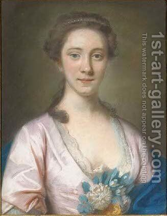 Portrait of Mrs Hanway Ballack by (after) Hoare, William, of Bath - Reproduction Oil Painting