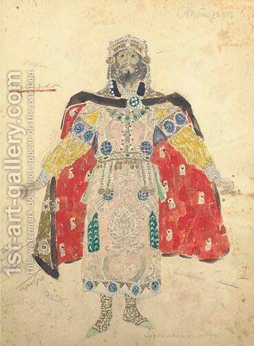 Costume designs for Ruslan by Aleksandr Jakovlevic Golovin - Reproduction Oil Painting