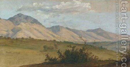 A View of Monte Serone and Monte Ernici by Christian Friedrich Gille - Reproduction Oil Painting