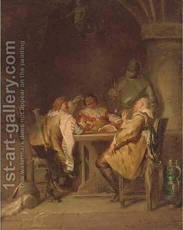 The round table by Jacob Emmanuel Gaisser - Reproduction Oil Painting