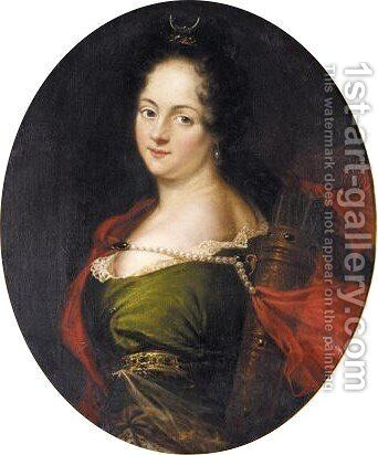 Portrait Der Grafin Maria Aurora Von Konigsmark, (1666-1728) by David Klocker Ehrenstrahl - Reproduction Oil Painting
