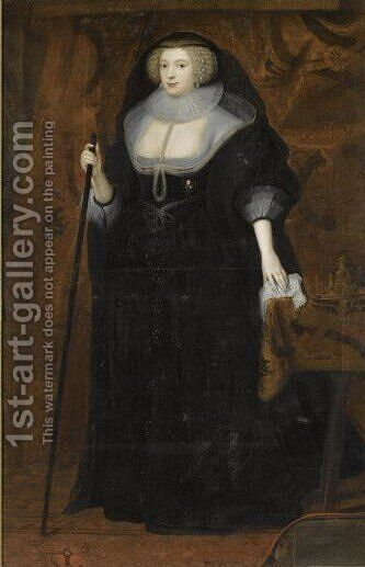 Portrait Of Frances Howard, Duchess Of Richmond (1577-1638) by (after) Dyck, Sir Anthony van - Reproduction Oil Painting