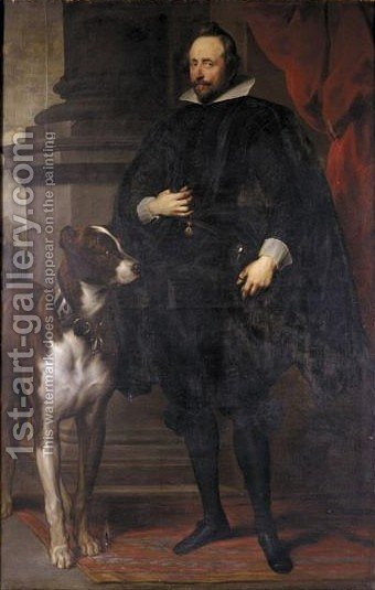 Portrait Von Wolfgang Wilhelm Pfalzgraf Von  Pfalz-Neuburg (1578-1653) by (after) Dyck, Sir Anthony van - Reproduction Oil Painting