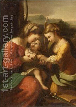 The Mystic Marriage Of Saint Catherine by (after) Correggio, (Antonio Allegri) - Reproduction Oil Painting