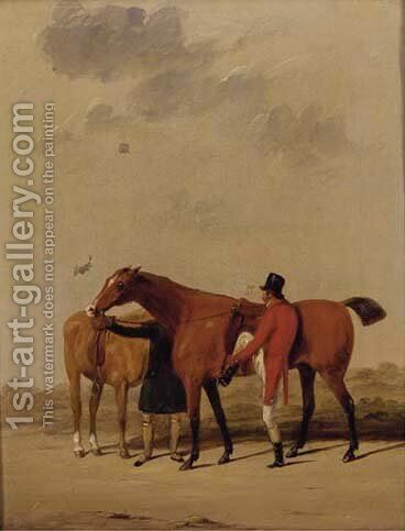 Saddling up by (after) Cooper, Abraham - Reproduction Oil Painting