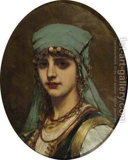 La belle Egyptienne 2 by Istvan Pekary - Reproduction Oil Painting
