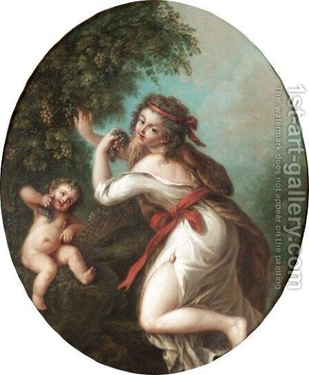 Allegory Of Autumn by (after) Cipriani, Giovanni Battista - Reproduction Oil Painting
