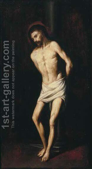 Christ at the Column by (after)  Francisco De Zurbaran - Reproduction Oil Painting