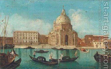 Santa Maria della Salute, Venice by (after) (Giovanni Antonio Canal) Canaletto - Reproduction Oil Painting