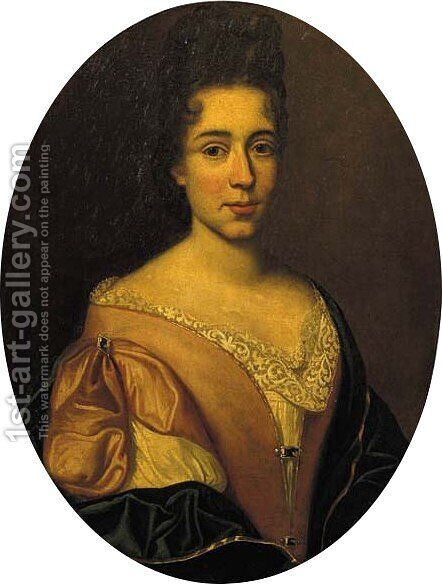 Portrait of a lady by (after) Arnold Boonen - Reproduction Oil Painting