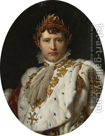 Portrait Of Napoleon I In His Imperial Robes by (after) Baron Francois Gerard - Reproduction Oil Painting