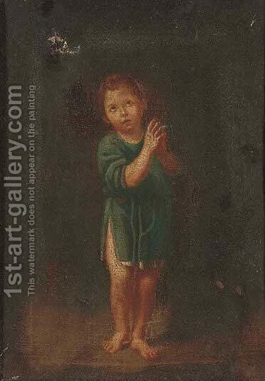 A young boy praying by (after) Bartolomeo Schedoni - Reproduction Oil Painting