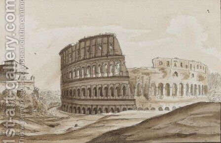 View Of Rome by (after) Carlo Labruzzi - Reproduction Oil Painting